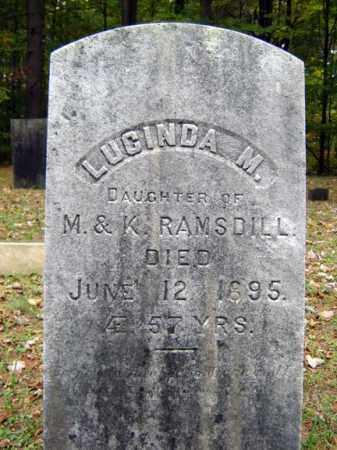RAMSDILL, LUCINDA M - Saratoga County, New York   LUCINDA M RAMSDILL - New York Gravestone Photos