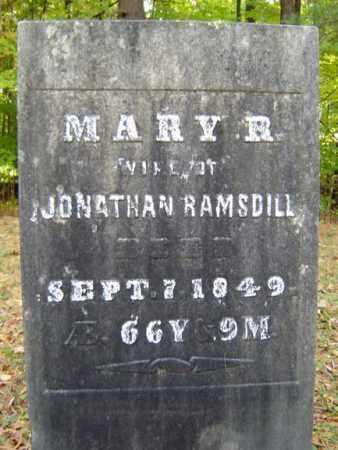 RILEY RAMSDILL, MARY - Saratoga County, New York   MARY RILEY RAMSDILL - New York Gravestone Photos