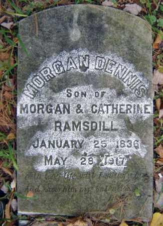RAMSDILL, MORGAN DENNIS - Saratoga County, New York   MORGAN DENNIS RAMSDILL - New York Gravestone Photos