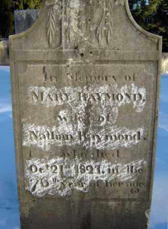 RAYMOND, MARY - Saratoga County, New York   MARY RAYMOND - New York Gravestone Photos