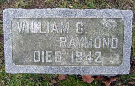 RAYMOND, WILLIAM C - Saratoga County, New York   WILLIAM C RAYMOND - New York Gravestone Photos
