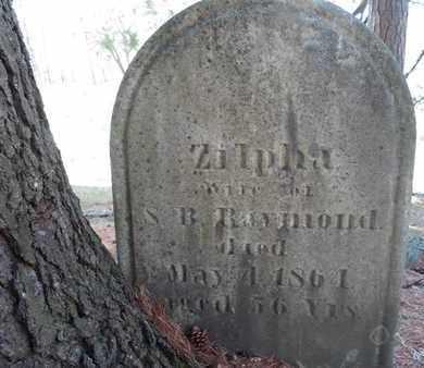 RAYMOND, ZILPHA - Saratoga County, New York   ZILPHA RAYMOND - New York Gravestone Photos