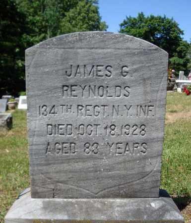 REYNOLDS, JAMES G - Saratoga County, New York | JAMES G REYNOLDS - New York Gravestone Photos