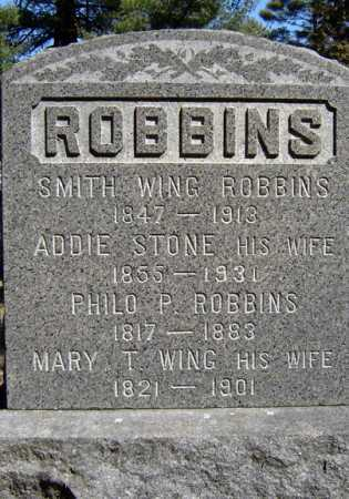 STONE ROBBINS, ADDIE - Saratoga County, New York | ADDIE STONE ROBBINS - New York Gravestone Photos