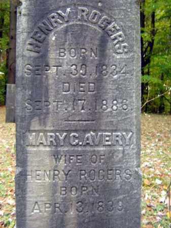 AVERY ROGERS, MARY C - Saratoga County, New York | MARY C AVERY ROGERS - New York Gravestone Photos