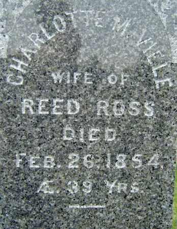 ROSS, CHARLOTTE M - Saratoga County, New York | CHARLOTTE M ROSS - New York Gravestone Photos