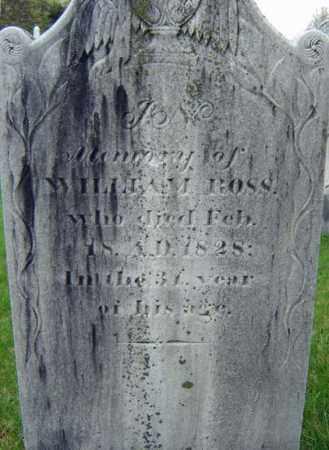 ROSS, WILLIAM - Saratoga County, New York | WILLIAM ROSS - New York Gravestone Photos