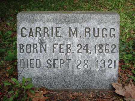 RUGG, CARRIE M - Saratoga County, New York | CARRIE M RUGG - New York Gravestone Photos