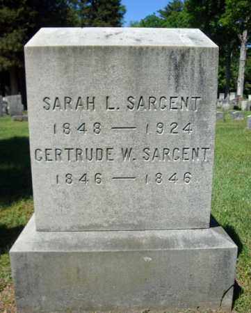 SARGENT, GERTRUDE W - Saratoga County, New York | GERTRUDE W SARGENT - New York Gravestone Photos