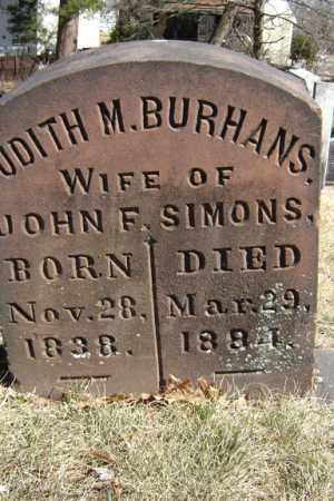 BURHANS, JUDITH M - Saratoga County, New York | JUDITH M BURHANS - New York Gravestone Photos