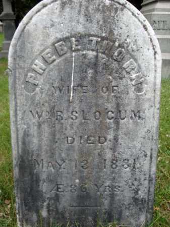 THORN SLOCUM, PHEBE - Saratoga County, New York | PHEBE THORN SLOCUM - New York Gravestone Photos
