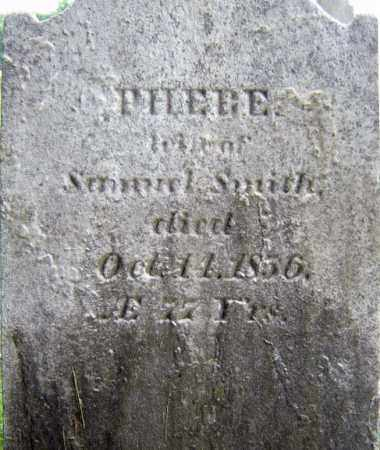 SMITH, PHEBE - Saratoga County, New York | PHEBE SMITH - New York Gravestone Photos