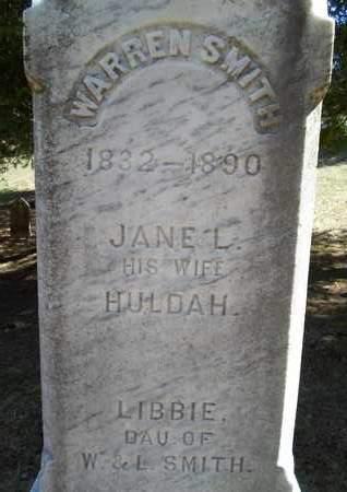 SMITH, HULDAH - Saratoga County, New York | HULDAH SMITH - New York Gravestone Photos