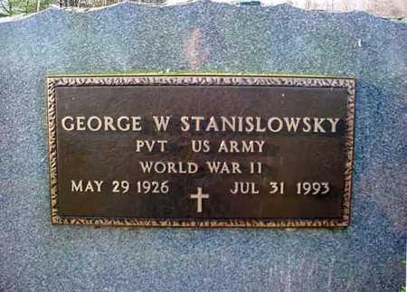 STANISLOWSKY (WWII), GEORGE W - Saratoga County, New York | GEORGE W STANISLOWSKY (WWII) - New York Gravestone Photos