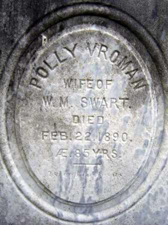 VROMAN SWART, POLLY - Saratoga County, New York | POLLY VROMAN SWART - New York Gravestone Photos