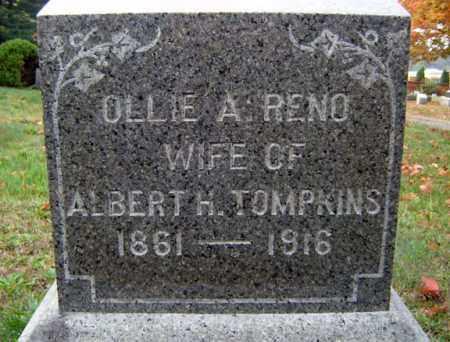 RENO TOMPKINS, OLLIE A - Saratoga County, New York | OLLIE A RENO TOMPKINS - New York Gravestone Photos