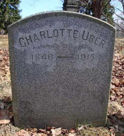 UBER, CHARLOTTE - Saratoga County, New York | CHARLOTTE UBER - New York Gravestone Photos