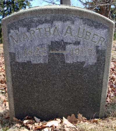 UBER, MARTHA A - Saratoga County, New York | MARTHA A UBER - New York Gravestone Photos