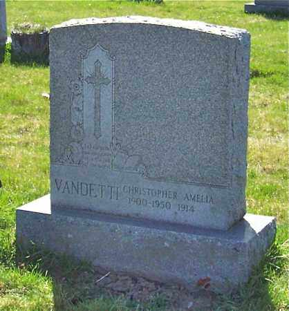 VANDETTI, AMELIA - Saratoga County, New York | AMELIA VANDETTI - New York Gravestone Photos