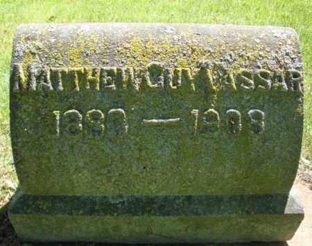 VASSAR, MATTHEW GUY - Saratoga County, New York | MATTHEW GUY VASSAR - New York Gravestone Photos