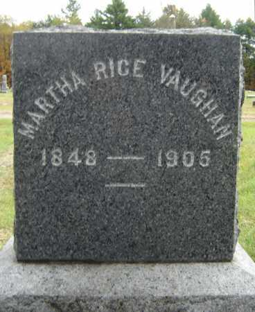 RICE VAUGHAN, MARTHA - Saratoga County, New York | MARTHA RICE VAUGHAN - New York Gravestone Photos
