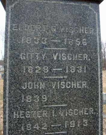 VISCHER, JOHN - Saratoga County, New York | JOHN VISCHER - New York Gravestone Photos