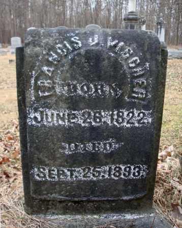 VISCHER, FRANCIS J - Saratoga County, New York | FRANCIS J VISCHER - New York Gravestone Photos