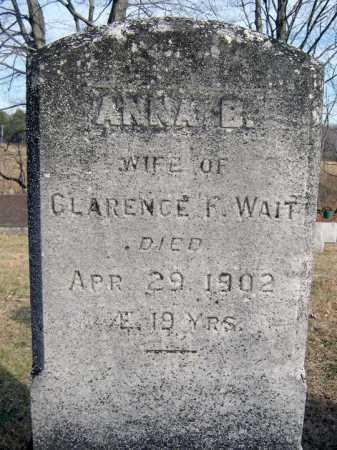 WAIT, ANNA B - Saratoga County, New York   ANNA B WAIT - New York Gravestone Photos