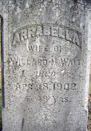 WAIT, ARRABELLA - Saratoga County, New York | ARRABELLA WAIT - New York Gravestone Photos