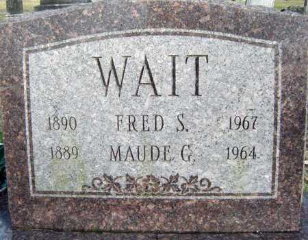 WAIT, MAUDE G - Saratoga County, New York | MAUDE G WAIT - New York Gravestone Photos