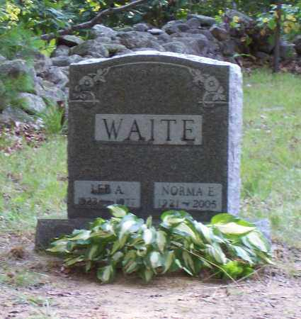 WAITE, NORMA E. - Saratoga County, New York | NORMA E. WAITE - New York Gravestone Photos