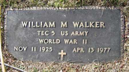 WALKER, WILLIAM M - Saratoga County, New York | WILLIAM M WALKER - New York Gravestone Photos