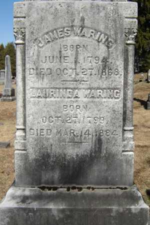 WARING, JAMES - Saratoga County, New York | JAMES WARING - New York Gravestone Photos