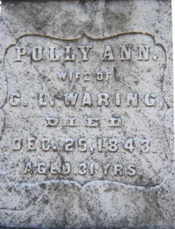 WARING, POLLY ANN - Saratoga County, New York | POLLY ANN WARING - New York Gravestone Photos