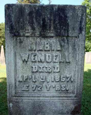 WENDELL, MARIA - Saratoga County, New York | MARIA WENDELL - New York Gravestone Photos