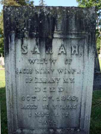 WENDELL, SARAH - Saratoga County, New York   SARAH WENDELL - New York Gravestone Photos
