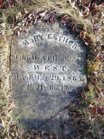 WEST, MARY ESTHER - Saratoga County, New York | MARY ESTHER WEST - New York Gravestone Photos