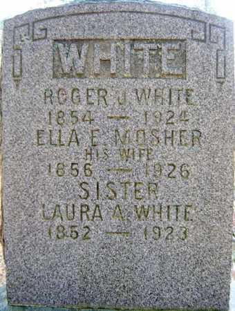 MOSHER WHITE, ELLA E - Saratoga County, New York | ELLA E MOSHER WHITE - New York Gravestone Photos