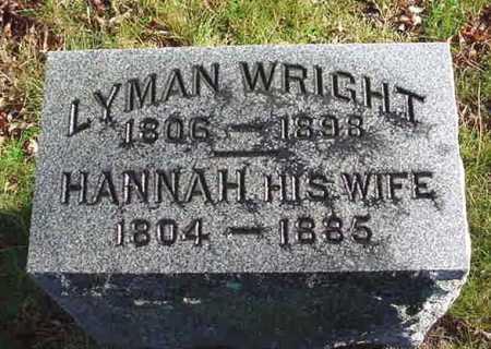 WRIGHT, HANNAH - Saratoga County, New York | HANNAH WRIGHT - New York Gravestone Photos