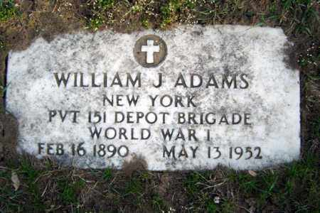 ADAMS (WWI), WILLIAM J - Schenectady County, New York | WILLIAM J ADAMS (WWI) - New York Gravestone Photos