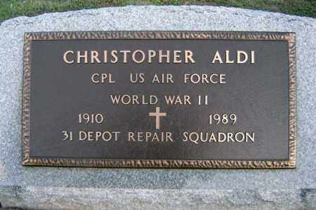 ALDI (WWII), CHRISTOPHER - Schenectady County, New York | CHRISTOPHER ALDI (WWII) - New York Gravestone Photos