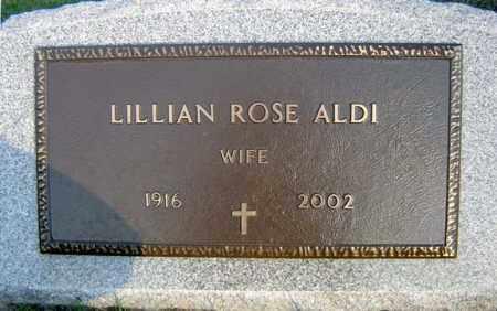 ALDI, LILLIAN ROSE - Schenectady County, New York | LILLIAN ROSE ALDI - New York Gravestone Photos