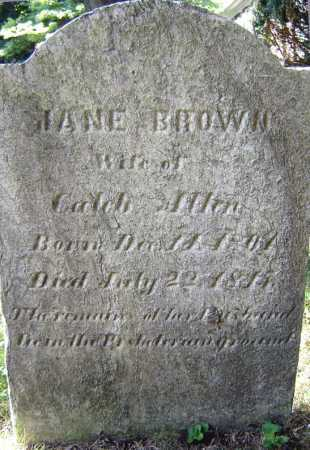 BROWN, JANE - Schenectady County, New York | JANE BROWN - New York Gravestone Photos