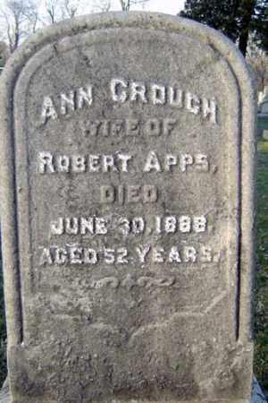 CROUCH, ANN - Schenectady County, New York | ANN CROUCH - New York Gravestone Photos