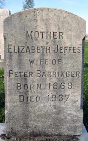 BARRINGER, ELIZABETH - Schenectady County, New York | ELIZABETH BARRINGER - New York Gravestone Photos
