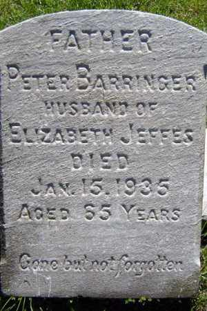BARRINGER, PETER - Schenectady County, New York | PETER BARRINGER - New York Gravestone Photos