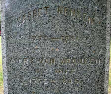 VAN VRANKEN, MARY - Schenectady County, New York | MARY VAN VRANKEN - New York Gravestone Photos