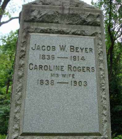 ROGERS BEYER, CAROLINE - Schenectady County, New York | CAROLINE ROGERS BEYER - New York Gravestone Photos