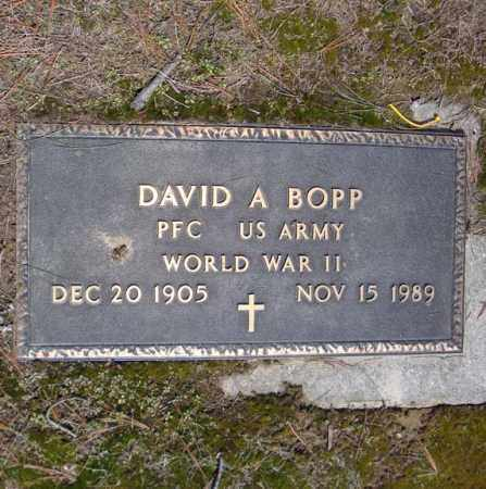 BOPP (WWII), DAVID A - Schenectady County, New York | DAVID A BOPP (WWII) - New York Gravestone Photos