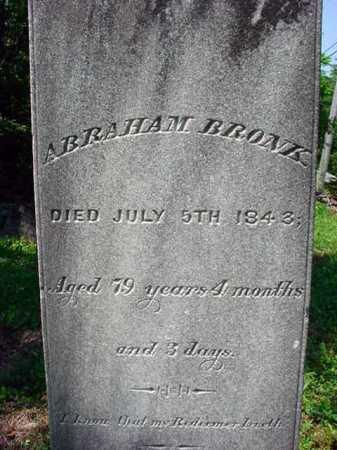 BRONK, ABRAHAM - Schenectady County, New York   ABRAHAM BRONK - New York Gravestone Photos